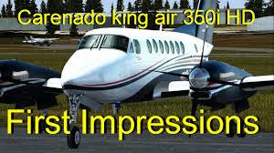 fsx p3d carenado b350i king air hd first impressions youtube