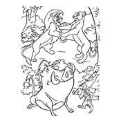 coloring lion king disney 4608