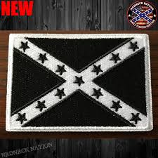 Confederate Flag Rear Window Decal Blk Wht Confederate Flag Velcro Patch Vhp 4