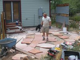 Patio Flagstone Designs Building A Flagstone Patio By David Hart Durango Landscaping Company