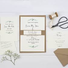 simplicity u0027 watercolour wedding invitation suite by wildflower