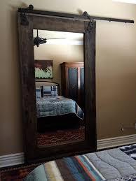 in suite dressing mirror and door all in one in suite bathroom door