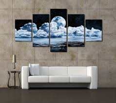 home decor paintings for sale 2016 sale fallout paintings cheap wall frames 5 panels moon canvas