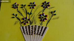 best out of waste flower basket made from fruit seeds youtube