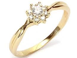 pierscionek zareczynowy złoty 585 pierścionek zaręczynowy z brylant 0 23ct 6386831244