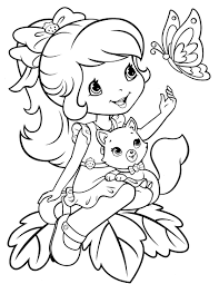 strawberry shortcake halloween coloring pages cecilymae