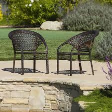 Wicker Fan Back Indoor Outdoor Club Chairs Set Of  By - Indoor outdoor sofas 2