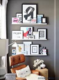 Wooden Gallery Shelf by Wall Shelves Design Cherry Wall Shelves And Ledges For Chic Home