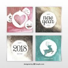imagenes graciosas año nuevo 2018 tarjetas graciosas de año nuevo 2018 en acuarela descargar