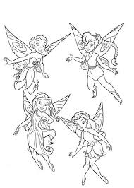 free printable disney fairies coloring pages kids