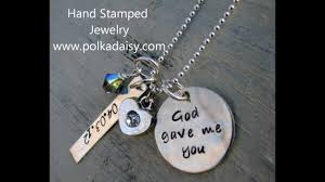 Personalized Stamped Necklace Hand Stamped Jewelry Youtube