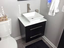 Wenge Bathroom Mirror Sheffield Home Berto 24 In W X 19 In D Floating Vanity In Black