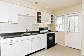 Maple Wood Kitchen Cabinets Kitchen Decor White Cabinets Travertine Tile Top Rectangle Silver
