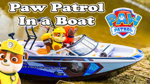 paw patrol nickelodeon paw patrol rubble boat toys video