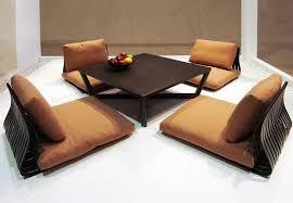 desain meja lesehan desain interior ruang tamu tanpa sofa contoh gambar desain ruang