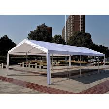Car Carport Canopy Outsunny Heavy Duty 32x16ft Large Carport Canopy Wedding Event