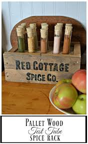 Red Spice Rack This Diy Pallet Spice Rack Uses Test Tubes To Hold Spices