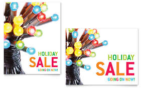 christmas lights for sale christmas lights sale poster template design