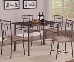 5 pc faux marble dining room table set 150014 savvy discount
