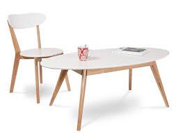 deco bois brut table basse design scandinave bois brut et blanc
