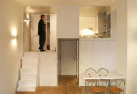 300 square foot micro studio loft apartment with space saving