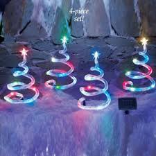 outdoor lighted trees 4pcs decoration yard stakes