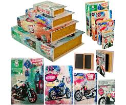 deco route 66 set ensemble lot 4 boites box rangement gigogne livre rétro déco