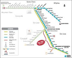 san jose map in usa san jose light rail map blue lrt map thumb with 600 x 486 map of
