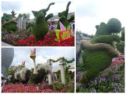 Epcot World Showcase Map Team Tizzel Topiaries At Epcot U0027s Flower And Garden Festival
