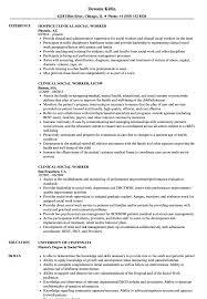 social worker resume clinical social worker resume sles velvet