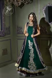 gown style dresses bottle green front open gown style dress designer