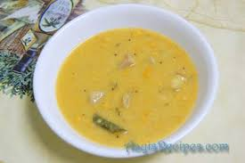 coconut and dal gravy with suran miryakana dali ambat aayis