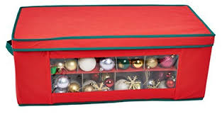 Christmas Decoration Storage Ideas Uk by Storeasy 36 Compartment Red Christmas Bauble Ornament