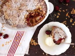 plum and cherry clafoutis one perfect mess