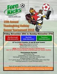 thanksgiving soccer tournament for ages u7 u19 registration is