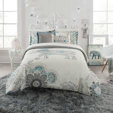 Aqua And White Comforter Anthology Bed Bath U0026 Beyond
