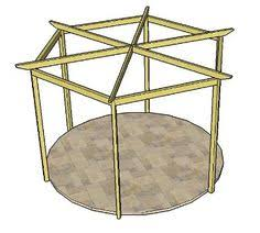 Attached Pergola Plans by Create This Wonderful Pergola Design From These Hexagonal Pergola