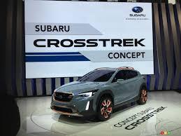 mitsubishi subaru next gen subaru crosstrek appears as a concept in montreal car