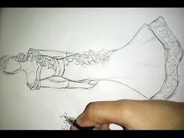 how to draw wedding dress fashoin illustration youtube