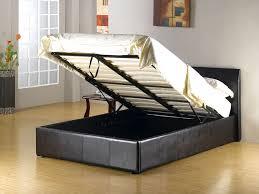 latest double ottoman storage bed prado plus faux leather ottoman