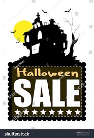 haunted house halloween sale banner stock vector 244226452