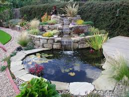 In Front Yard - excellent ponds and waterfalls design with terrace arrangement in
