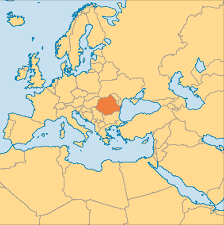 Romania Blank Map by Red Page Pray For Romania