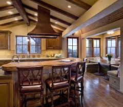 Rustic Kitchen Ideas Pictures by Rustic Kitchens Pictures Classic Stools Under Low Ceiling White
