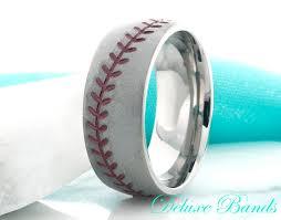 baseball wedding ring titanium ringtitanium baseball wedding ringmens wedding