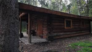 One Story Log Cabins Nature Campsite Trees Cabin Large One Story Log Cabin In The