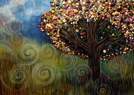 button tree 0003 painting by furlow
