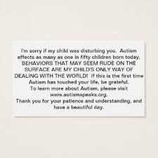 I Need Business Cards Today Autism Business Cards U0026 Templates Zazzle