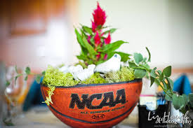basketball centerpieces sports themed wedding ideas march wedding madness