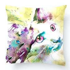 cat home decor throw pillow case wedding decorative cushion cover design with cat